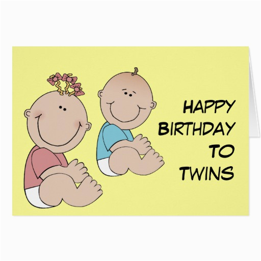 happy birthday to twins greeting cards 137828923061731793