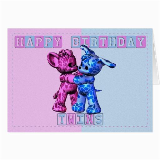 Happy Birthday Twins Card 137533524985531656