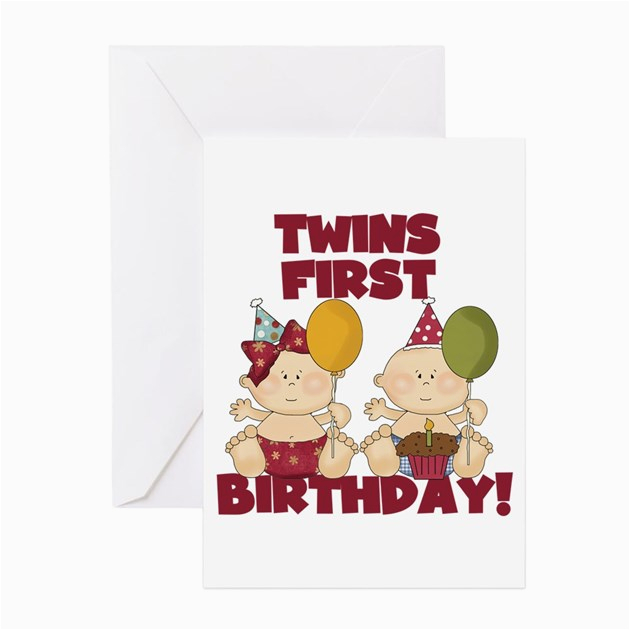 Free Birthday Cards For Twins 1st Boy Girl Greeting Card By Peacockcards