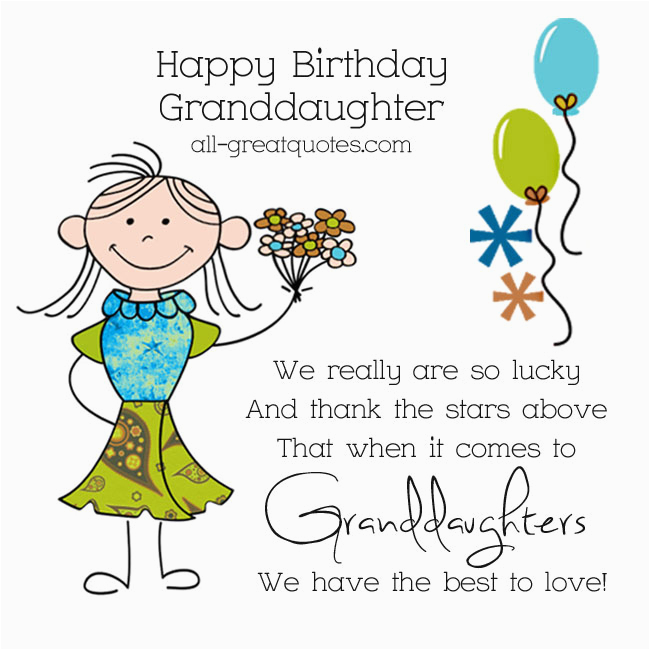 Happy Birthday Granddaughter Quotes Quotesgram From Free Greeting Cards For