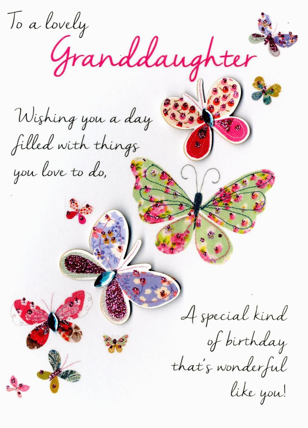 Kcsnjt053 Lovely Granddaughter Birthday Greeting Card Second Nature Just To Say Cards