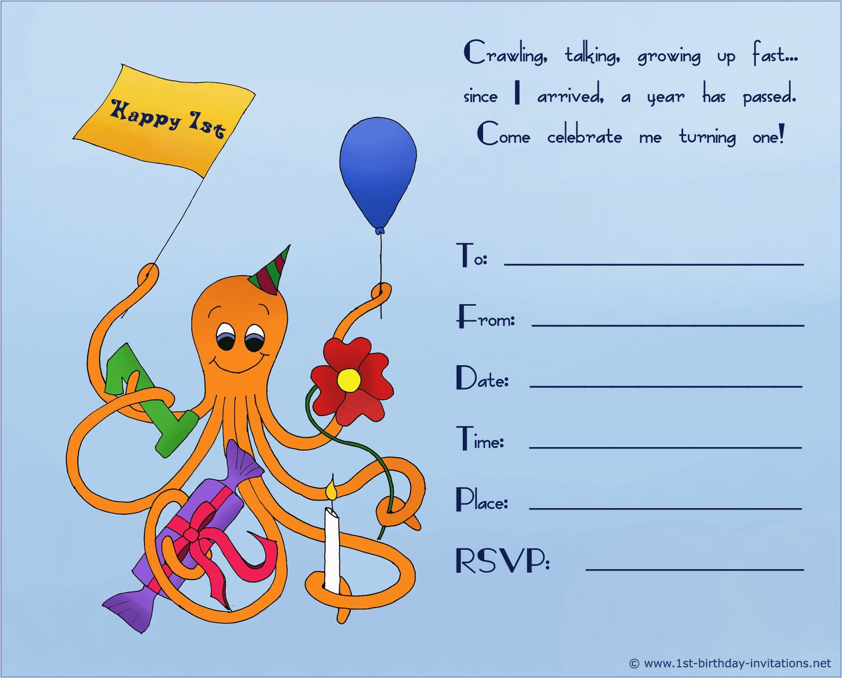 Free Birthday Invitation Maker Online Kids Invite Template