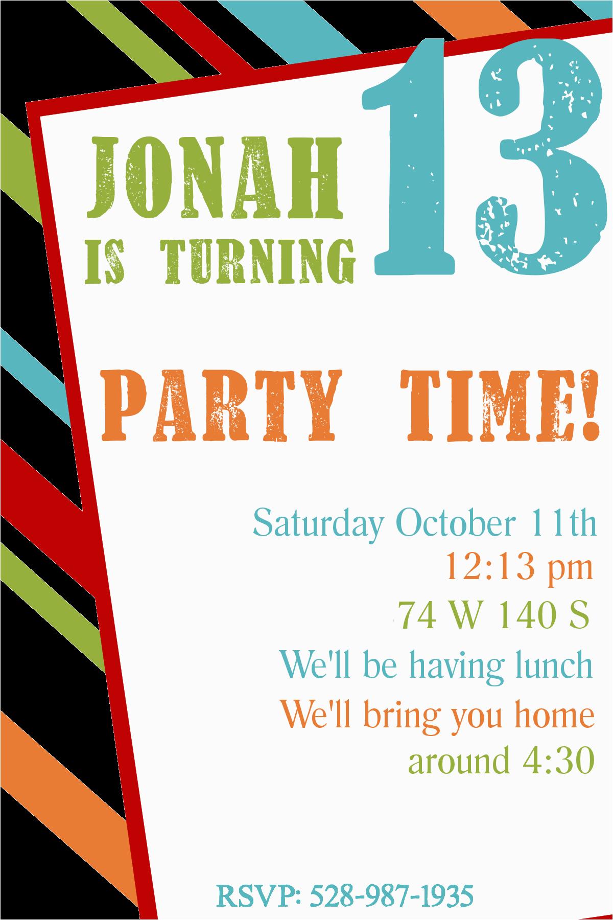 Free Birthday Party Invitation Templates Free Printable Birthday Invitation Templates
