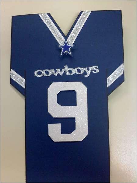 card dallas cowboys jersey birthday card eflor2112
