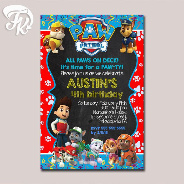 Free Digital Birthday Invitation Cards Best 20 Paw Patrol Card Ideas On Pinterest