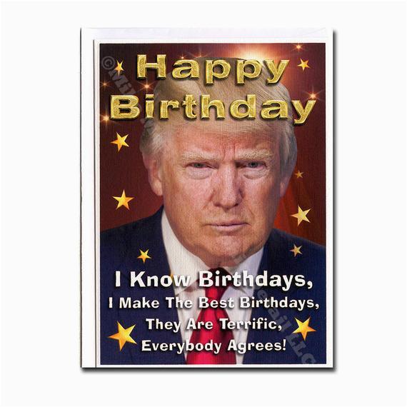 Free Donald Trump Birthday Card Funny