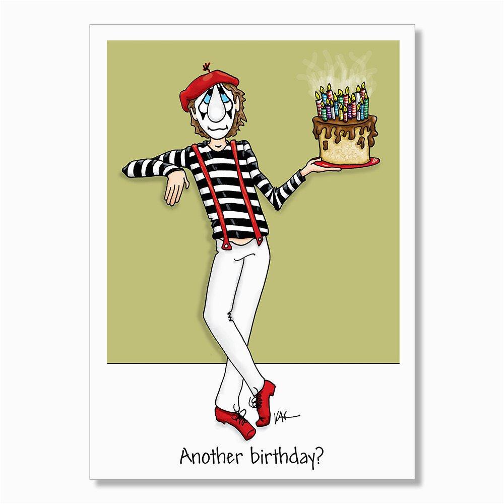 funny birthday card mime birthday card adult birthday card