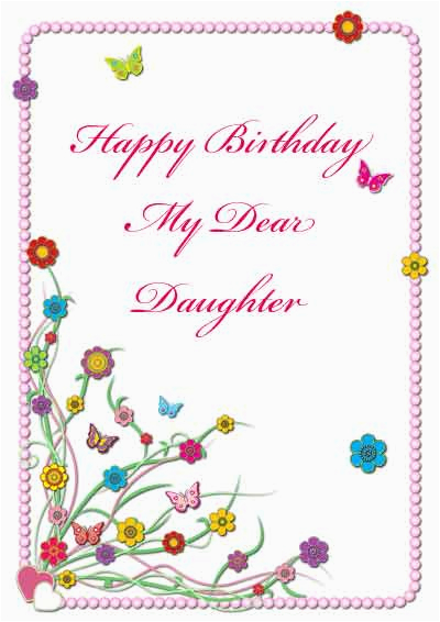 Free E Birthday Cards For Daughter 6 Best Images Of Printable