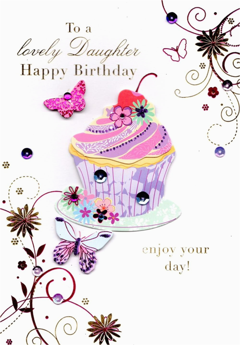 Free E Birthday Cards For Daughter Lovely Handmade Greeting Card