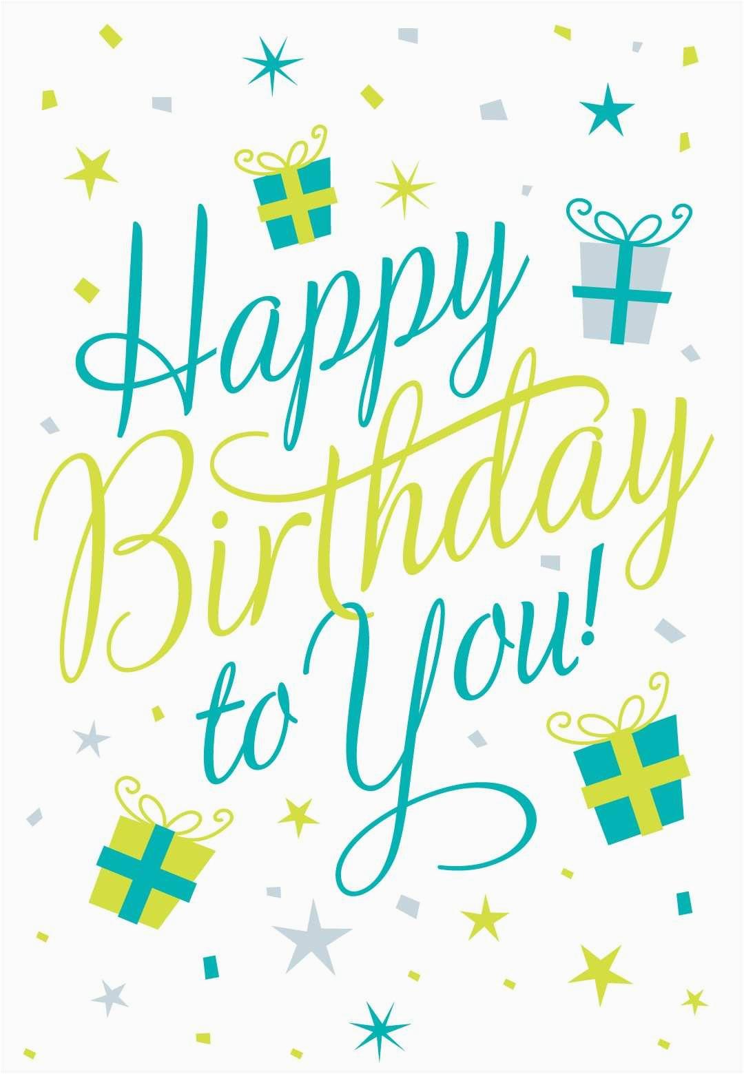 free printable happy birthday to you greeting card free e