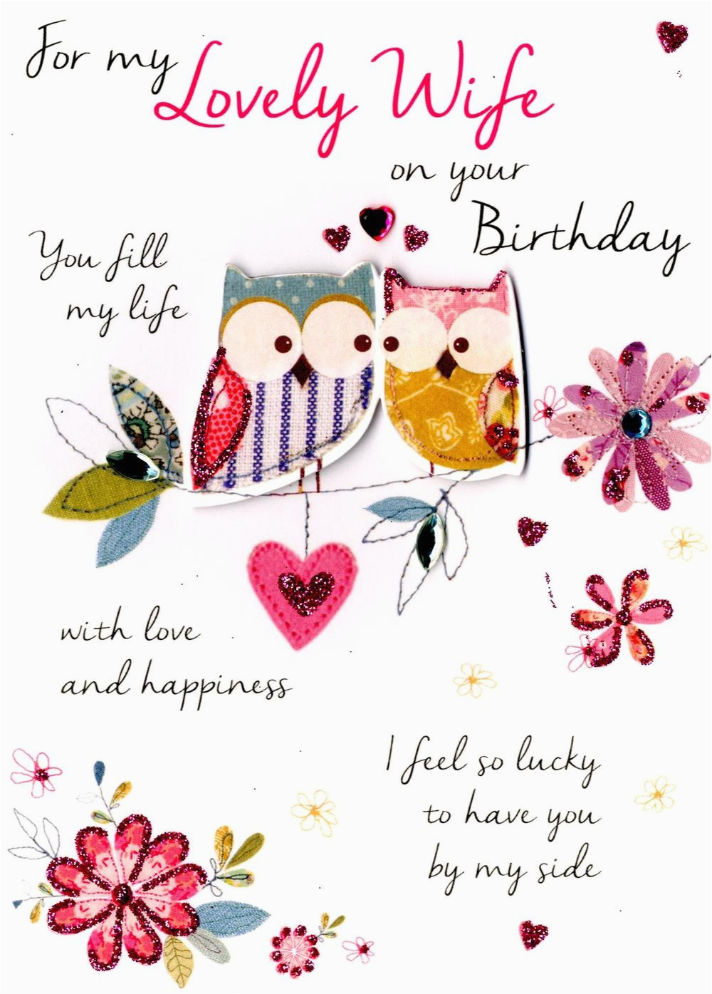 lovely wife birthday greeting card cards love kates