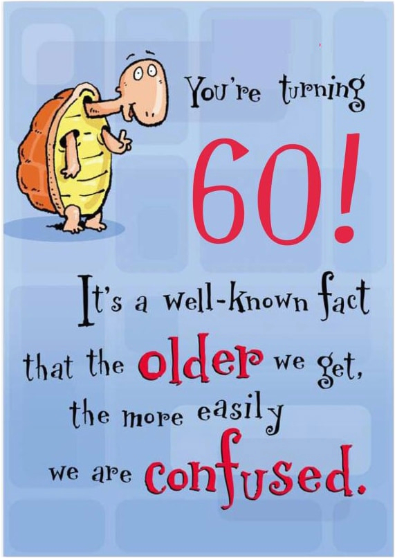 Funny 60th Birthday Cards Free