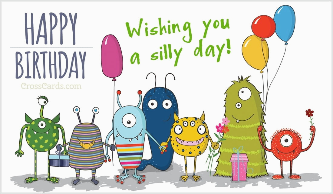 happy birthday monsters silly