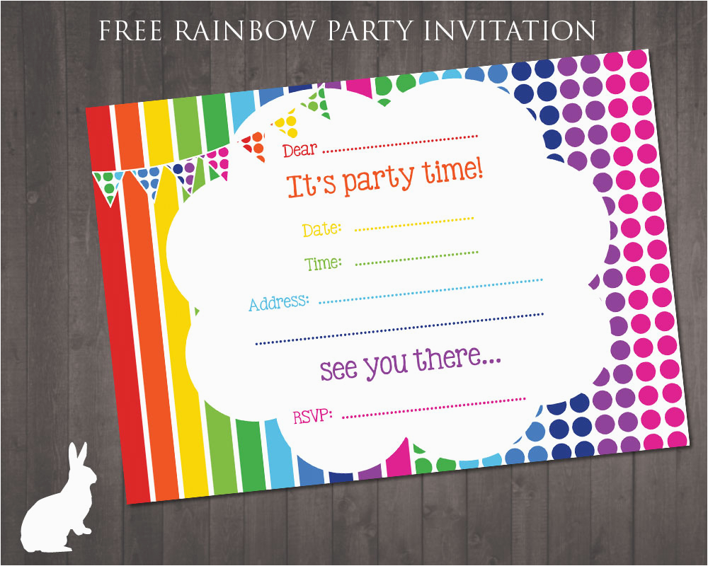 Birthday Party Invitations Free Printable Cards