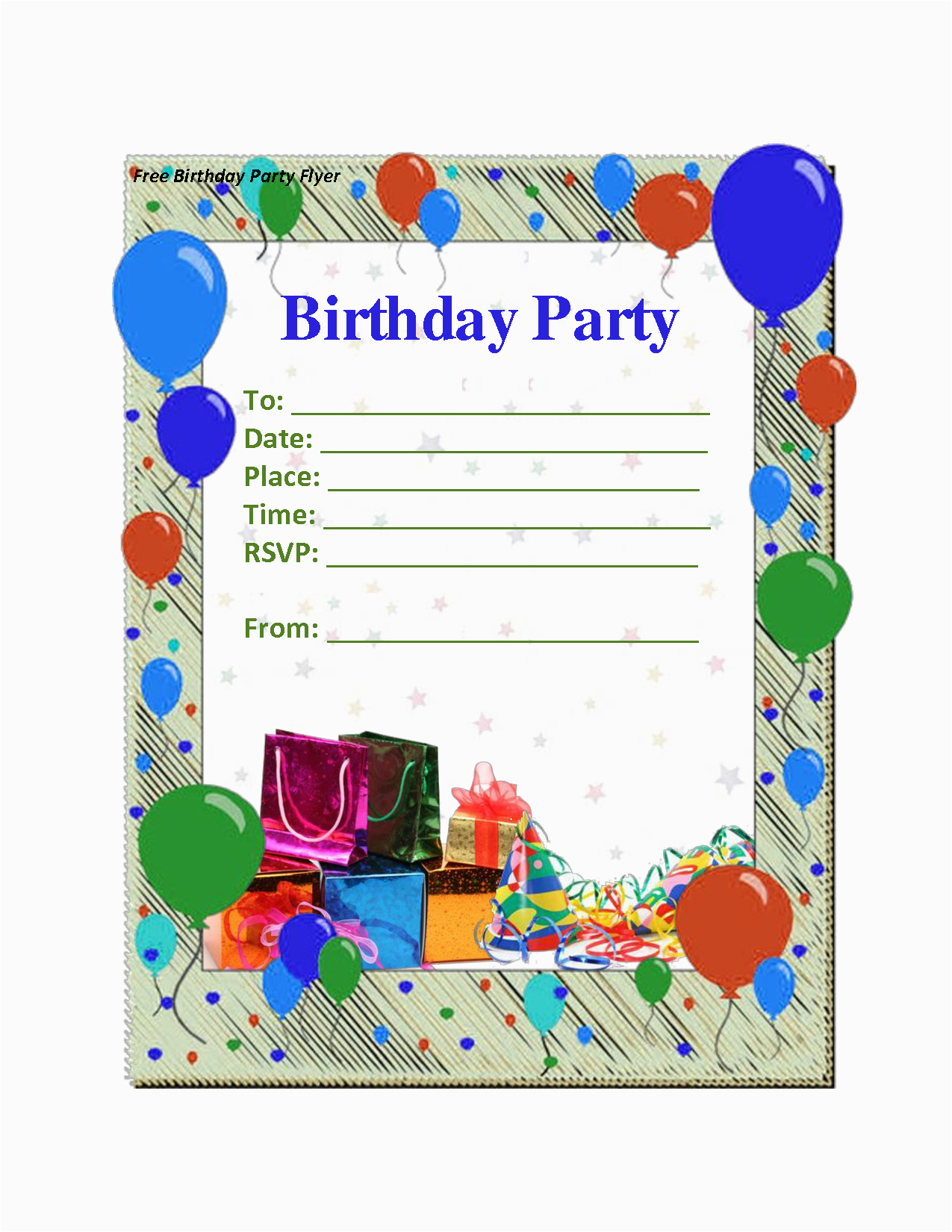 Free E Invitations For Birthdays Birthday Invitation Template