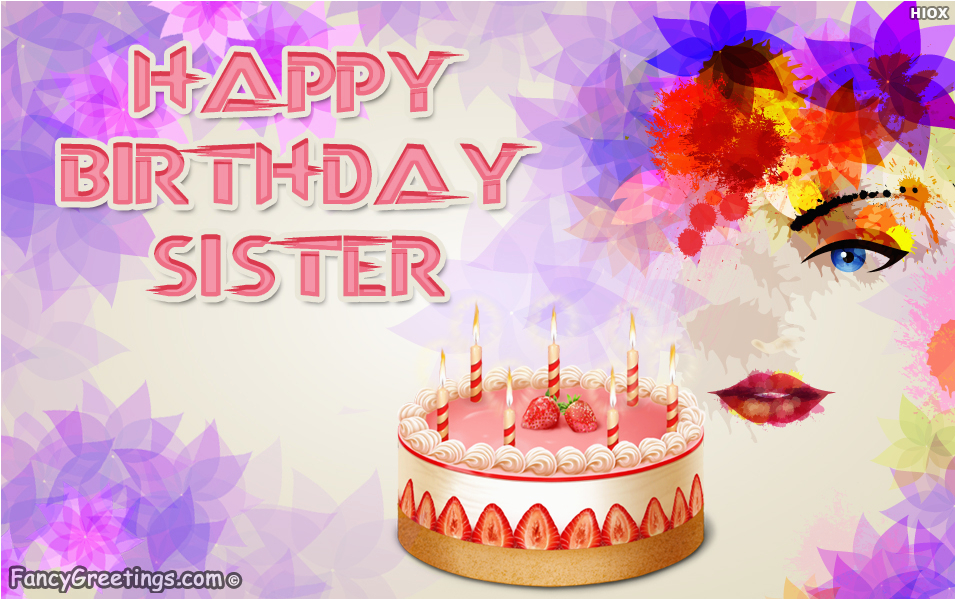 Free Email Birthday Cards For Sister Advance Wishes My Ecard Greeting