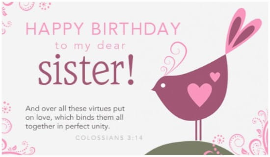 Free Email Birthday Cards For Sister Dear Ecard Personalized