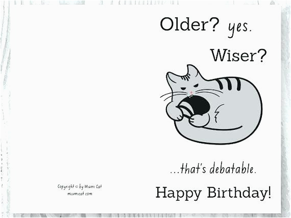 Birthday Card Print Out Happy Cards Funny Printable Free Coloring