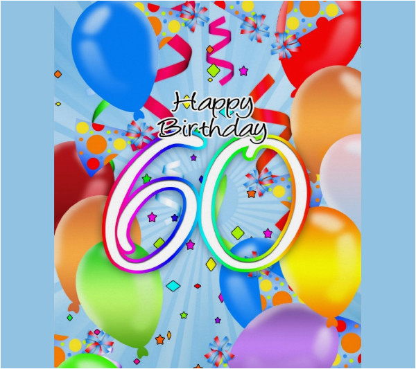 Free Happy 60th Birthday Cards Printable