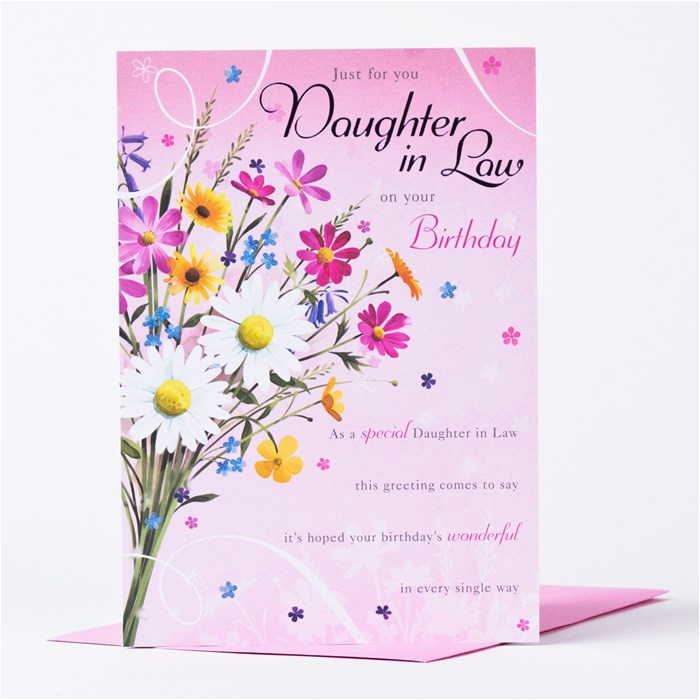 birthday card just for you daughter in law