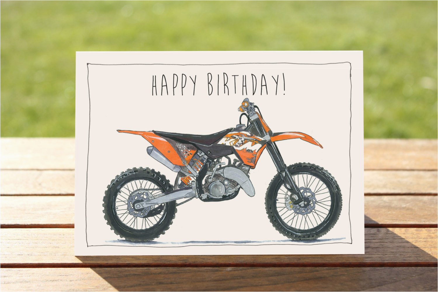 motorcycle birthday card ktm 125sx dirt bike a6 6