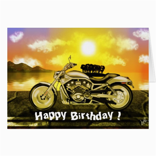 motorcycle birthday card zazzle