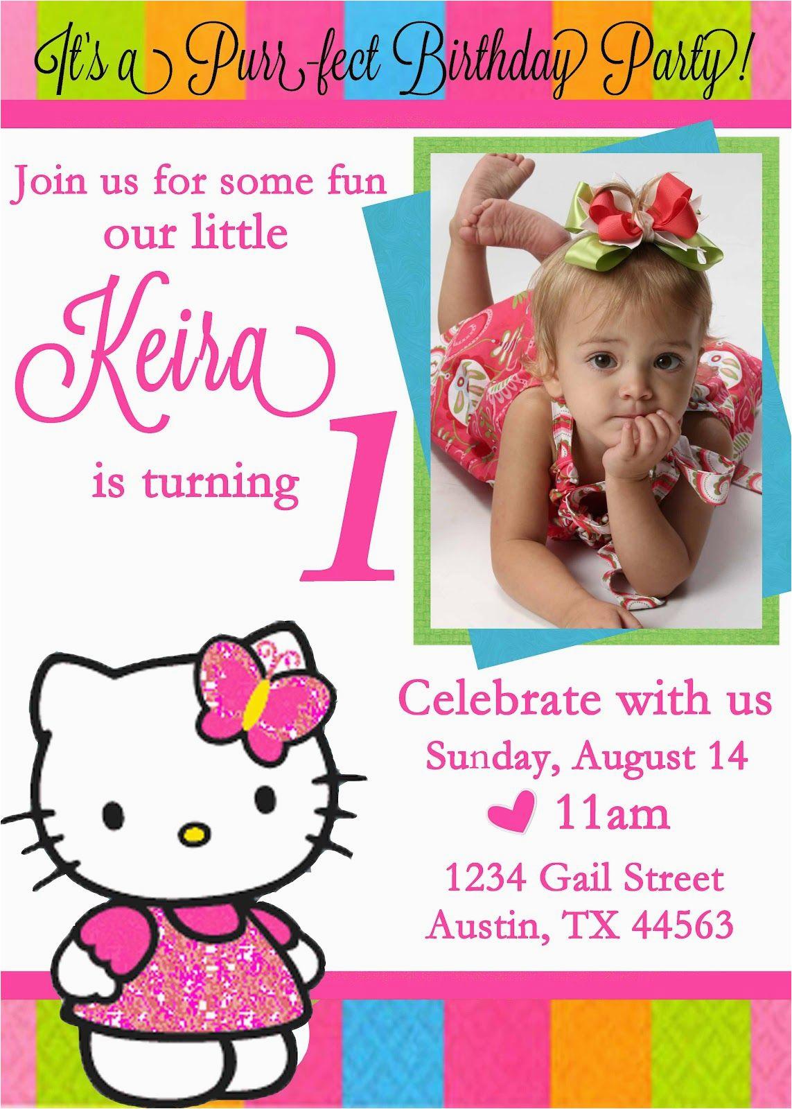 personalized hello kitty birthday invitations updated