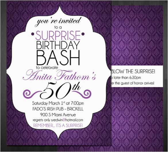 Free Online 40th Birthday Invitation Templates 14 Surprise Birthday Invitations Free Psd Vector Eps