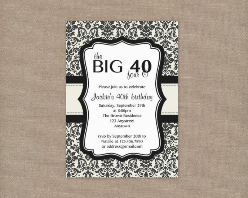Free Online 40th Birthday Invitation Templates Free Printable 40th Birthday Party Invitation Templates