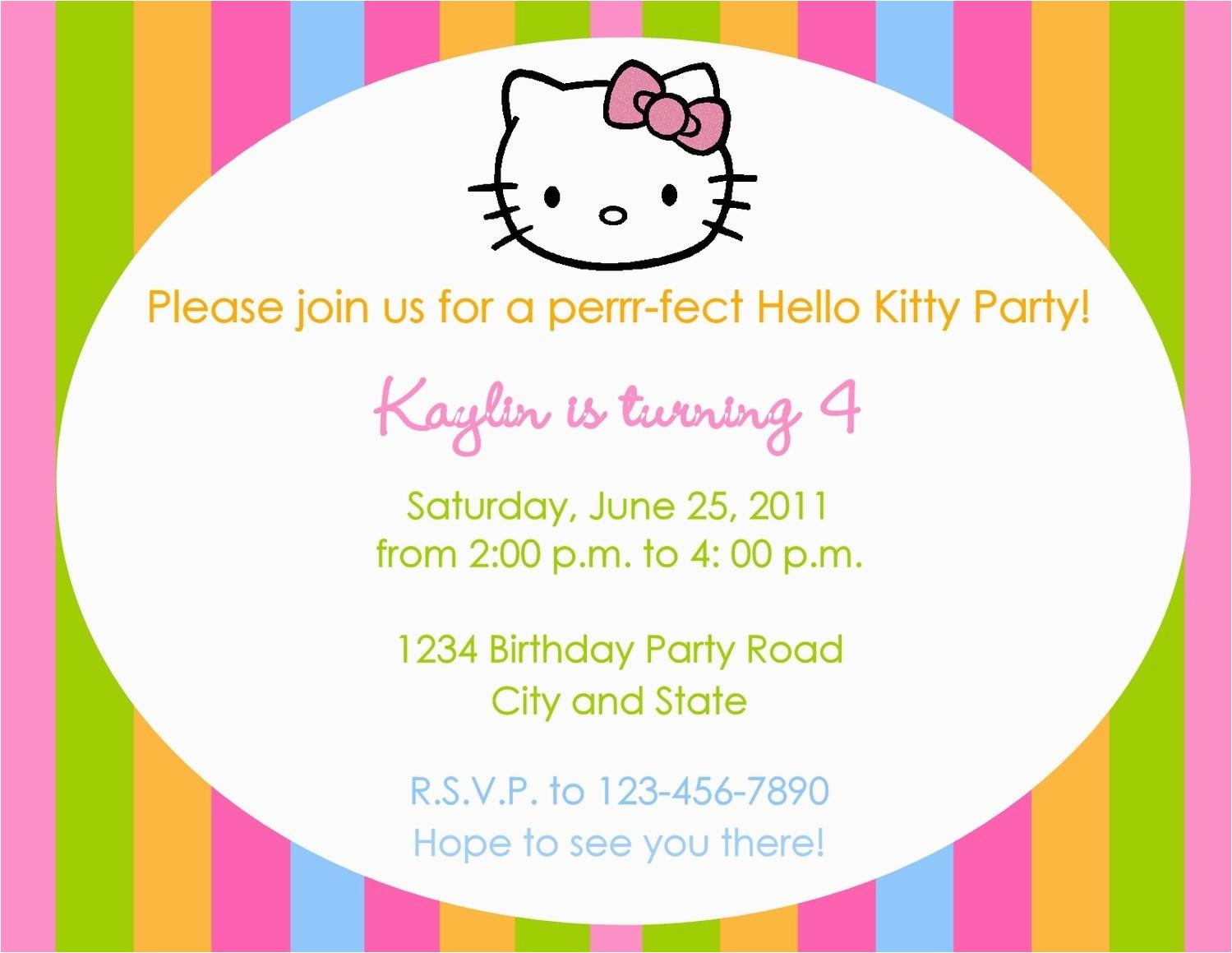 hello kitty invites template