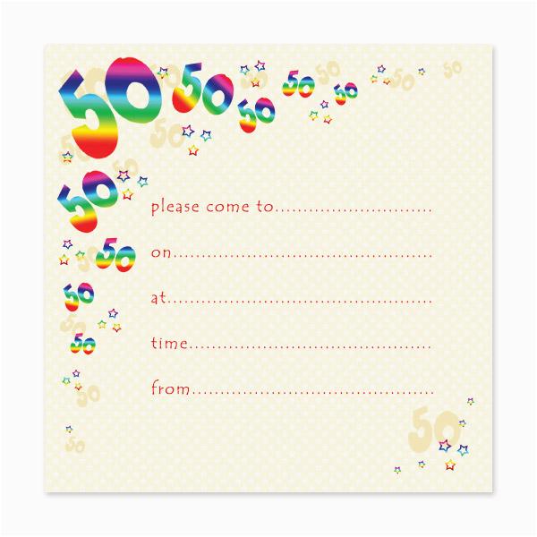 Free Online 50th Birthday Invitation Templates Blank 50th