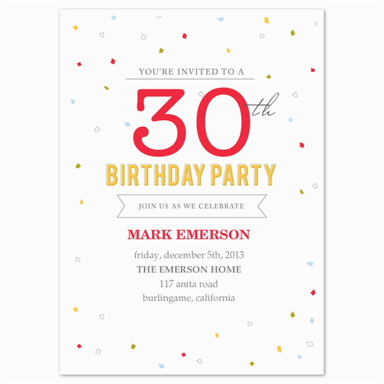 Free Online Birthday Invitations To Email Invitation Template 30th
