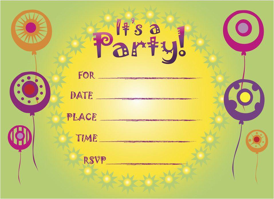 Free Online Birthday Invitations With Photos Printable Party Cimvitation