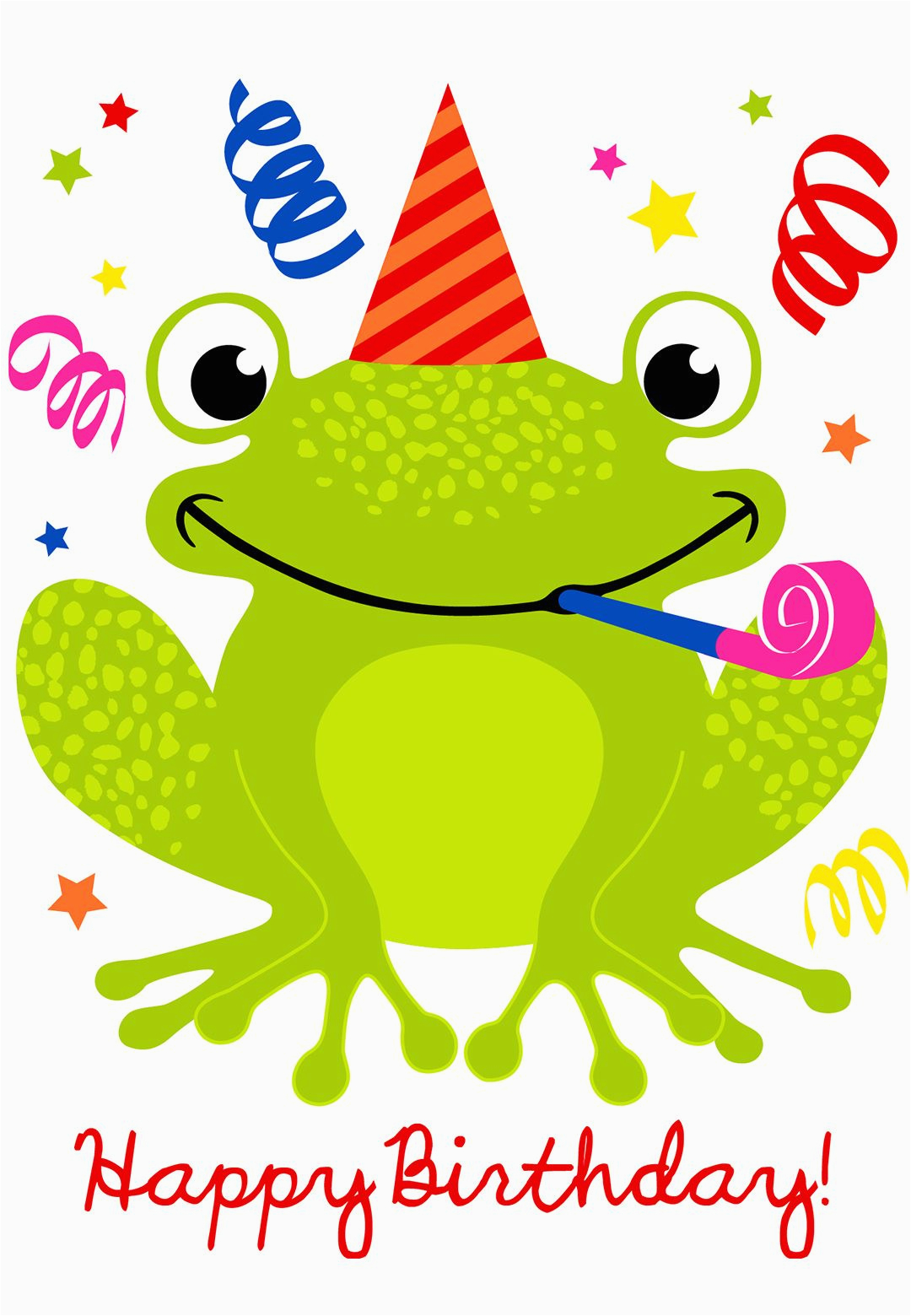 Free Online Printable Birthday Cards No Download A Happy Hopping Greeting Card