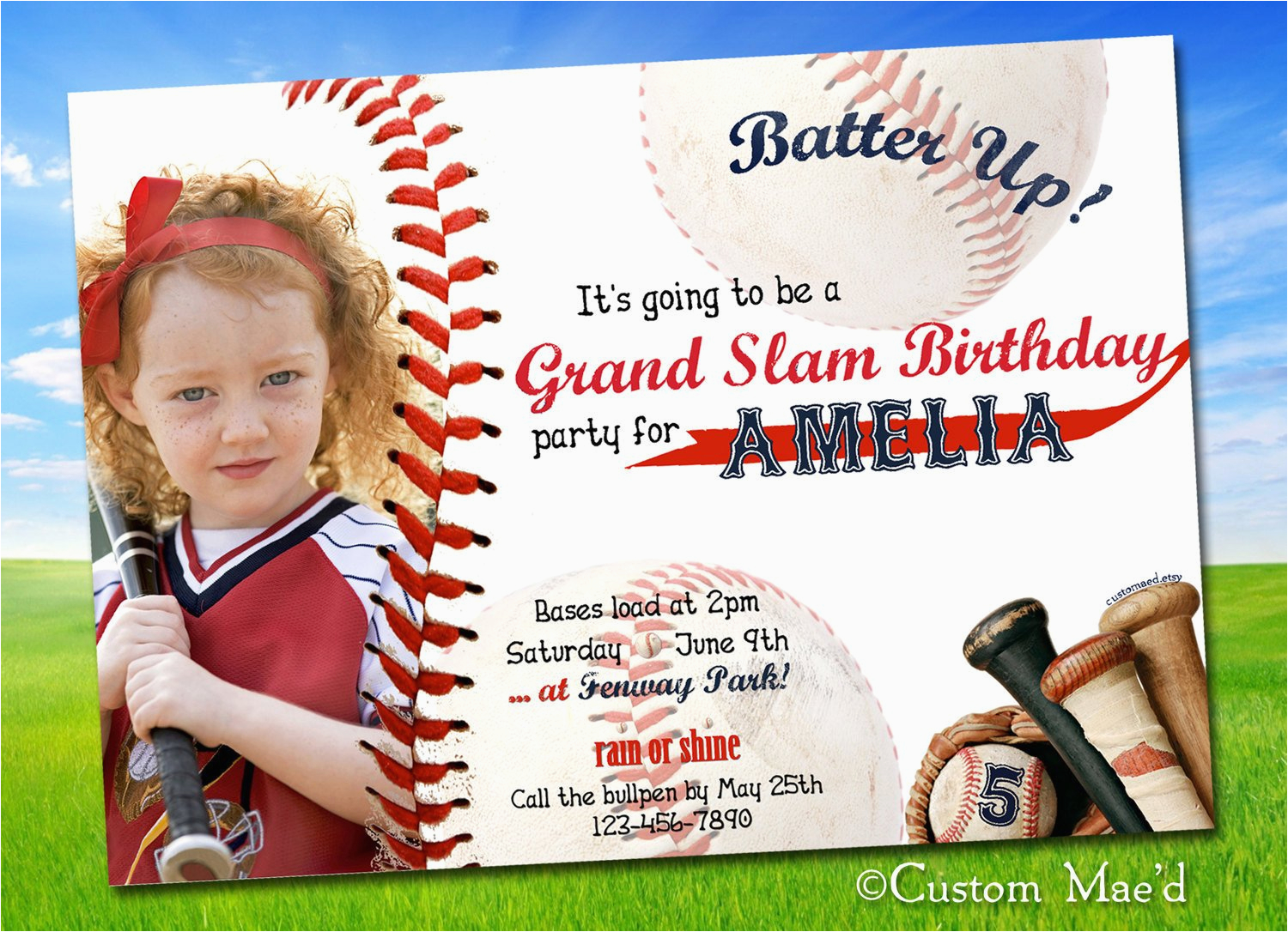 Free Personalized Birthday Invitations Baseball Printable By