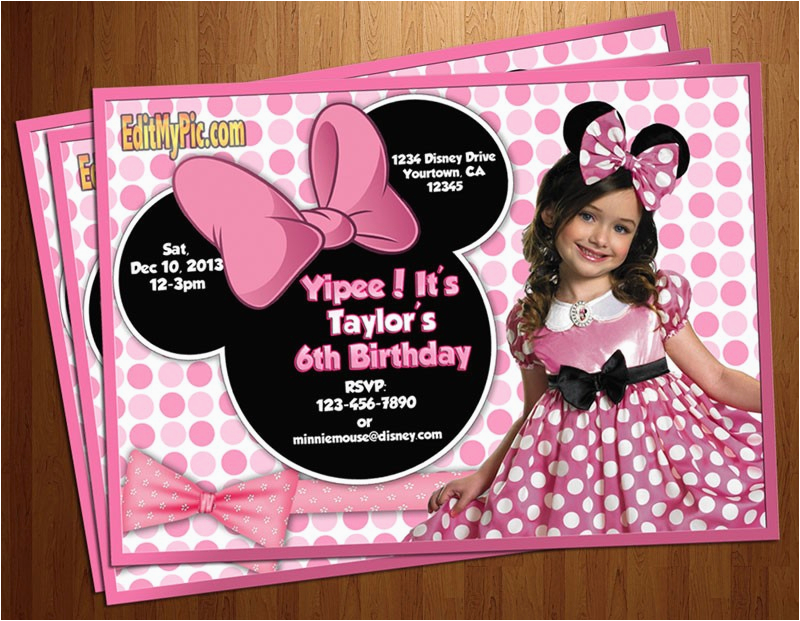 Free Personalized Birthday Invitations Printable Minnie Mouse