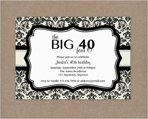 40th birthday invitation templates free