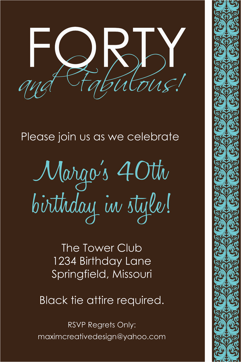 Free Printable 40th Birthday Party Invitation Templates 9 Best Images Of Men Invitations