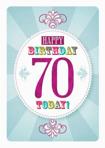Free Printable 70th Birthday Cards 70 Today Card 2 50 A Great Range Of