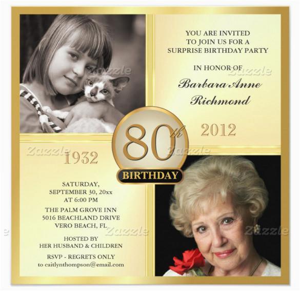 15 sample 80th birthday invitations templates ideas
