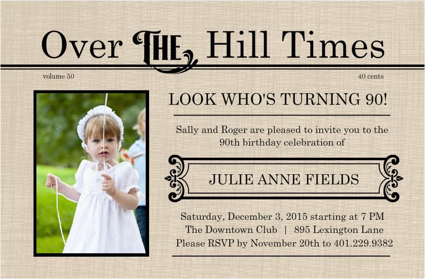 Free Printable 90th Birthday Invitations Free Printable 90th
