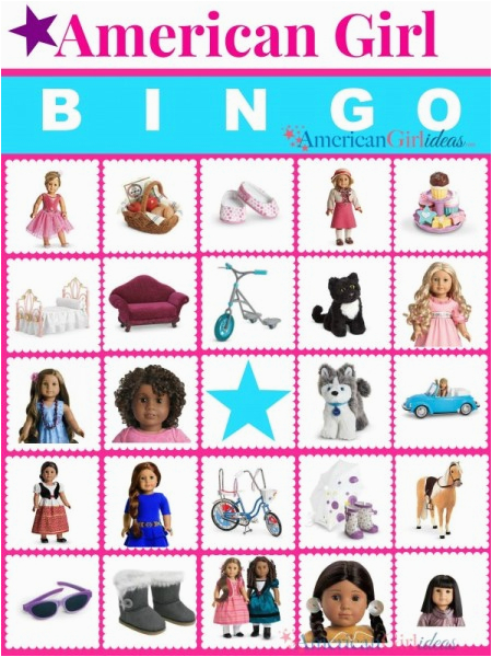 picture about American Girl Ideas Printable identified as Absolutely free Printable American Female Birthday Playing cards American Woman
