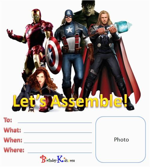 post free avengers printable birthday invitations 372084