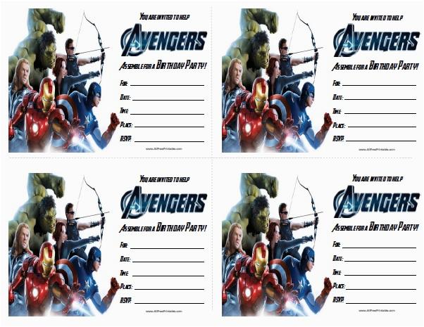 Free Printable Avengers Birthday Party Invitations Avengers Birthday Invitations Free Printable