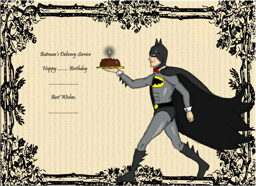 gallery batman birthday card