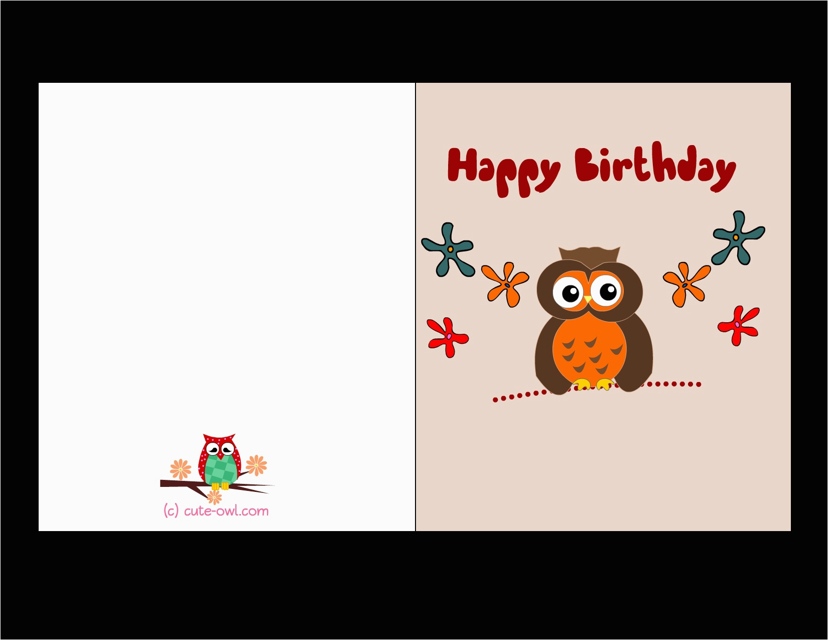 free printable birthday cards for boss