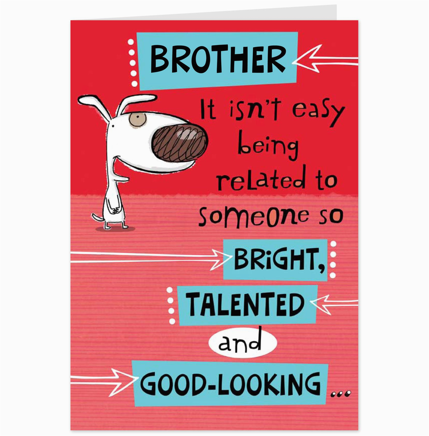 post free printable birthday cards for brother 92741