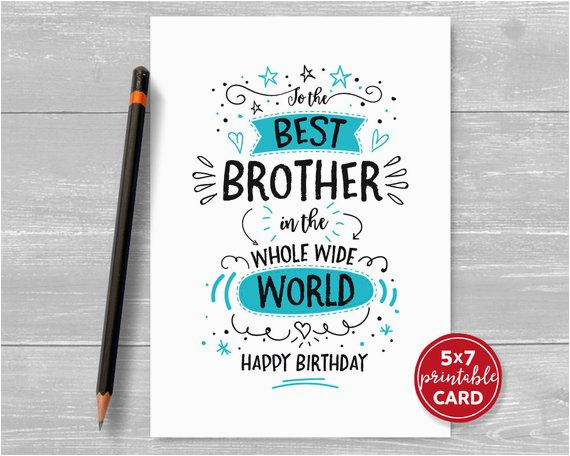 printable birthday card for brother to