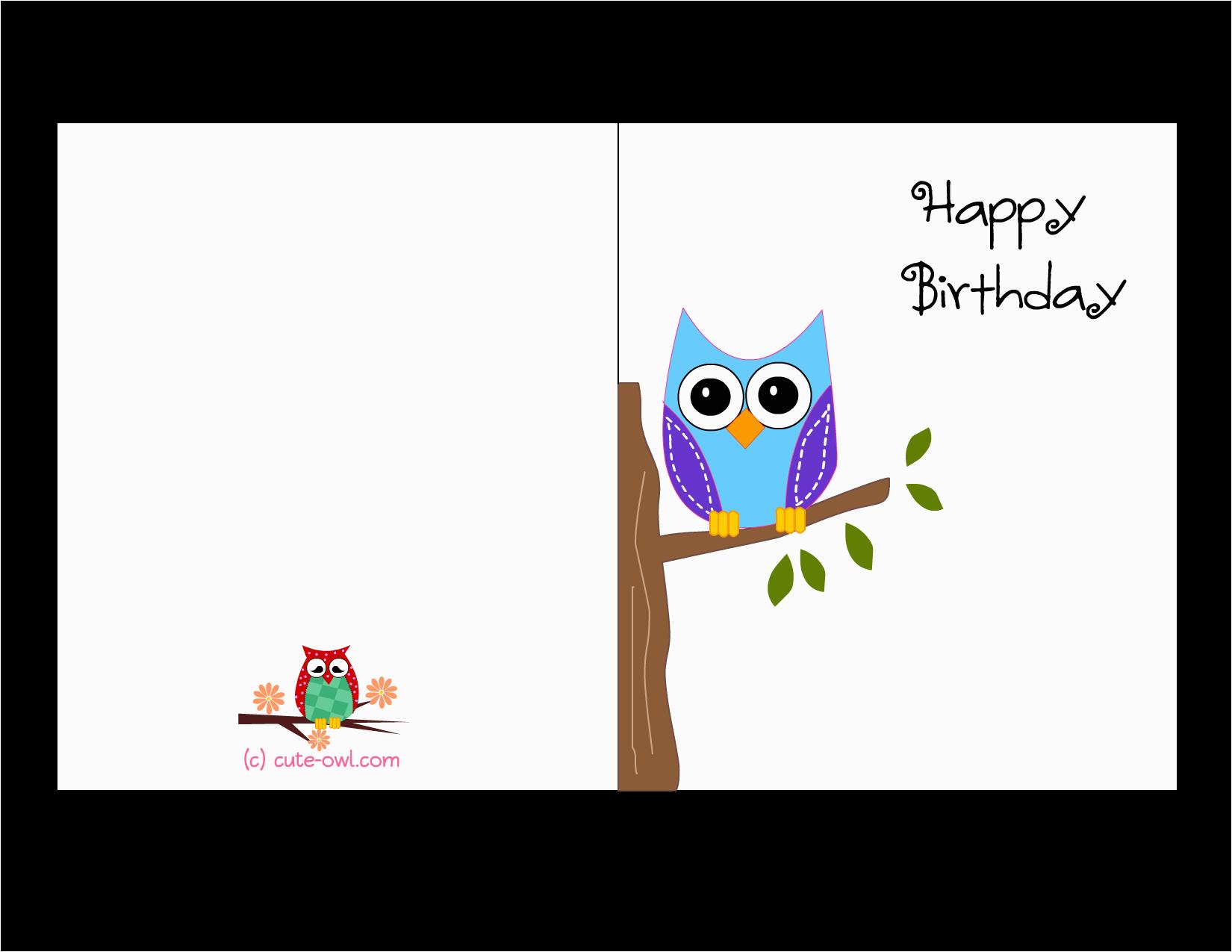 owl birthday cards