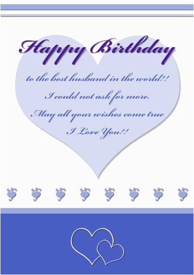 post birthday cards husband printable love 356878